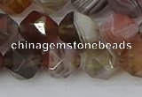 CAA1009 15.5 inches 10mm faceted nuggets botswana agate beads