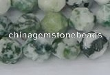 CAA1022 15.5 inches 10mm faceted nuggets tree agate beads