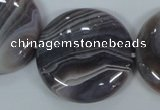 CAA109 15.5 inches 40mm coin botswana agate gemstone beads