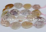 CAA1124 15.5 inches 25*35mm - 30*40mm freeform sakura agate beads