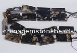 CAA1170 15.5 inches 22*40mm rectangle sakura agate gemstone beads