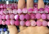 CAA1452 15.5 inches 14mm round matte druzy agate beads