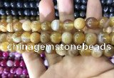 CAA1552 15.5 inches 12mm round banded agate beads wholesale