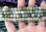 CAA1585 15.5 inches 6mm round banded agate beads wholesale