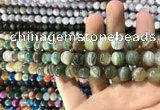 CAA1586 15.5 inches 8mm round banded agate beads wholesale