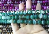 CAA1592 15.5 inches 8mm round banded agate beads wholesale