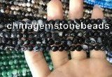 CAA1640 15.5 inches 6mm faceted round banded agate beads