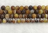 CAA1864 15.5 inches 12mm round banded agate gemstone beads