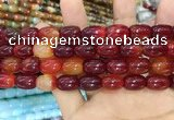 CAA2120 15.5 inches 10*14mm drum agate beads wholesale