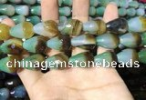 CAA2162 15.5 inches 15*20mm faceted teardrop agate beads