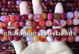 CAA2235 15.5 inches 10mm faceted round banded agate beads