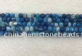 CAA2257 15.5 inches 6mm faceted round banded agate beads