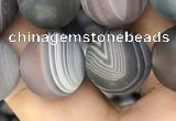 CAA2395 15.5 inches 12mm round matte Botswana agate beads wholesale