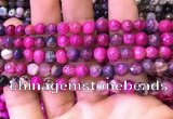 CAA2895 15 inches 6mm faceted round fire crackle agate beads wholesale
