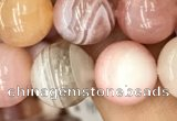 CAA3534 15.5 inches 10mm round pink botswana agate beads