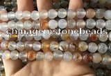 CAA3598 15.5 inches 8mm round dendritic agate beads wholesale