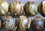 CAA3868 15 inches 8mm round tibetan agate beads wholesale
