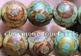 CAA3882 15 inches 8mm round tibetan agate beads wholesale