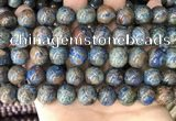 CAA4013 15.5 inches 14mm round blue crazy lace agate beads