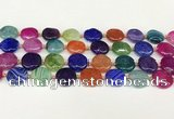 CAA4491 15.5 inches 18mm flat round dragon veins agate beads