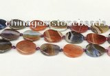 CAA4523 15.5 inches 20*26mm twisted oval dragon veins agate beads