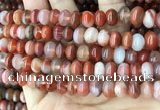CAA4563 15.5 inches 6*10mm - 8*11mm rondelle south red agate beads