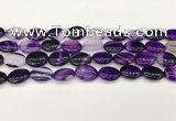 CAA4654 15.5 inches 12*16mm oval banded agate beads wholesale