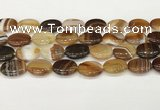 CAA4669 15.5 inches 15*20mm oval banded agate beads wholesale