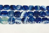 CAA4770 15.5 inches 20*20mm square banded agate beads wholesale