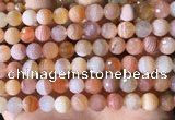 CAA4856 15.5 inches 8mm faceted round botswana agate beads