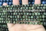 CAA4964 15.5 inches 4mm round green dendritic agate beads