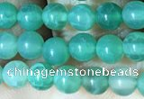 CAA5020 15.5 inches 4mm round green dragon veins agate beads