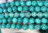 CAA5024 15.5 inches 12mm round green dragon veins agate beads