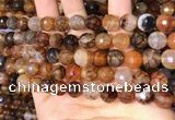 CAA5064 15.5 inches 10mm faceted round dragon veins agate beads
