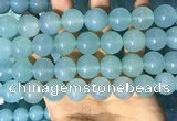 CAA5096 15.5 inches 16mm round sea blue agate beads wholesale
