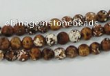 CAA749 15.5 inches 6mm round wooden agate beads wholesale