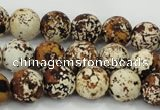 CAA753 15.5 inches 14mm round wooden agate beads wholesale