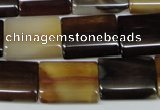 CAA900 15.5 inches 15*20mm flat tube agate gemstone beads wholesale