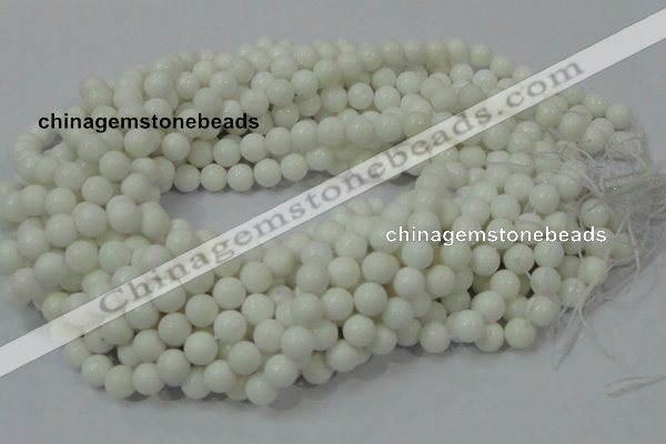 CAA93 15.5 inches 10mm round white agate gemstone beads wholesale