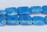 CAB233 15.5 inches 14*14mm square blue crazy lace agate beads