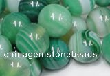 CAB717 15.5 inches 12mm round green agate gemstone beads wholesale