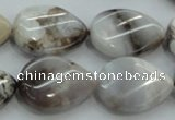 CAB962 15.5 inches 18*25mm twisted teardrop ocean agate gemstone beads