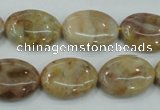 CAB976 15.5 inches 13*18mm oval Morocco agate beads wholesale