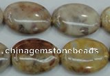 CAB977 15.5 inches 18*25mm oval Morocco agate beads wholesale