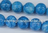 CAB999 15.5 inches 12mm round blue crazy lace agate beads