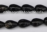 CAE21 15.5 inches 10*14mm teardrop astrophyllite beads wholesale