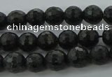 CAE35 15.5 inches 6mm faceted round astrophyllite beads wholesale