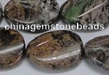 CAF140 15.5 inches 20*30mm twisted oval Africa stone beads