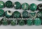CAG1527 15.5 inches 10mm faceted round fire crackle agate beads