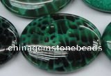 CAG1623 15.5 inches 30*40mm oval peafowl agate gemstone beads
